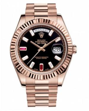Rolex Day Date II President Rose Or Noir Cadran218235 BKDRP