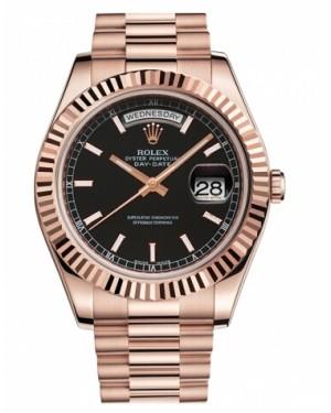Rolex Day Date II President Rose Or Noir Cadran218235 BKIP