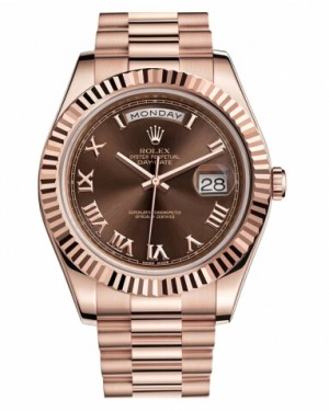 Rolex Day Date II President Rose Or Marron Cadran218235 BRRP