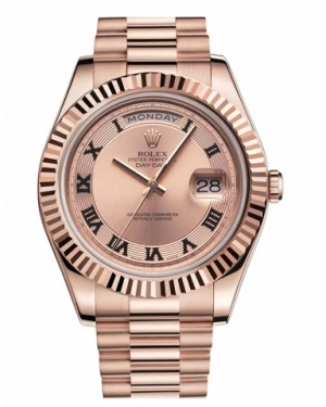 Rolex Day Date II President Rose Or Champagne concentric Cadran218235 CHCRP