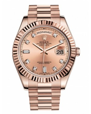 Rolex Day Date II President Rose Or Champagne Cadran218235 CHDP