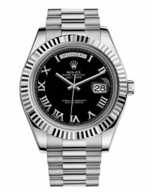 Rolex Day Date II President Blanc Or Noir Cadran218239 BKRP