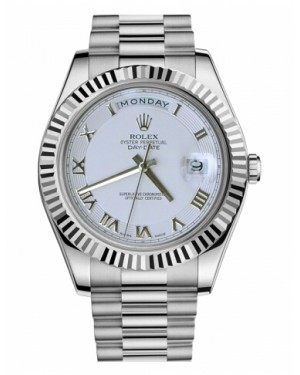 Rolex Day Date II President Blanc Or Ivory concentric circle Cadran218239 ICRP