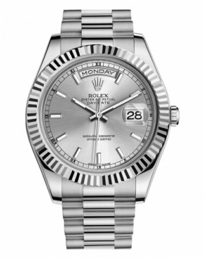 Rolex Day Date II President Blanc Or Argent Cadran218239 SIP