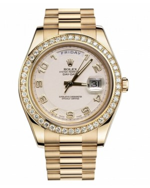 Rolex Day Date II President Jaune Or Ivory concentric Cadran218348 ICAP