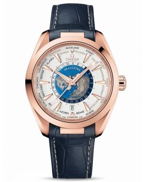 Omega Seamaster Aqua Terra Worldtimer Sedna Gold Montre Homme 220.53.43.22.02.001
