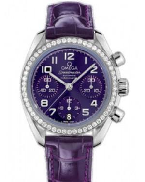Omega Speedmaster 38mm Automatique Chronometer Purple Dial Dames 324.18.38.40.10.001