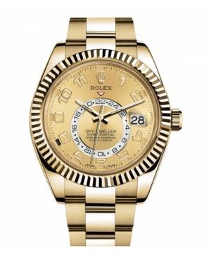 Rolex Sky Dweller Jaune Or 326938