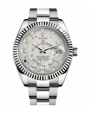 Rolex Sky Dweller Blanc Or 326939