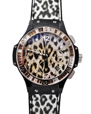 Replique Montre Hublot Big Bang Chronographe Leopard Dial 341.cw.7717.nr.1977