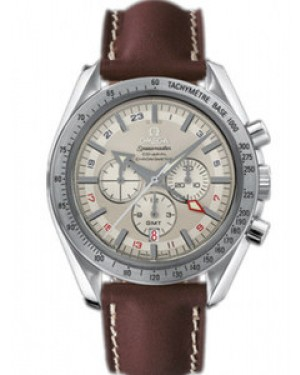 Omega Speedmaster Broad Arrow GMT 44.25mm Automatique Chronographe Blanc Dial Hommes 3881.30.37