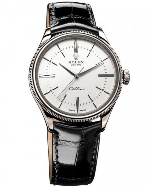 Rolex Cellini Time Or Blanc Homme 50509