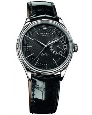 Rolex Cellini Date Or Blanc Noir Homme 50519