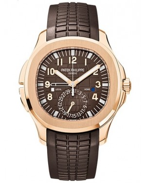 Patek Philippe Aquanaut Travel Time Or Rose Homme 5164R-001