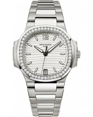 Replique Patek Philippe Nautilus Acier Inoxydable Diamants Femme 7018/1A-001
