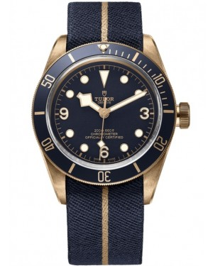 Tudor Heritage Black Bay Bronze Blue Bucherer Montre 79250BB