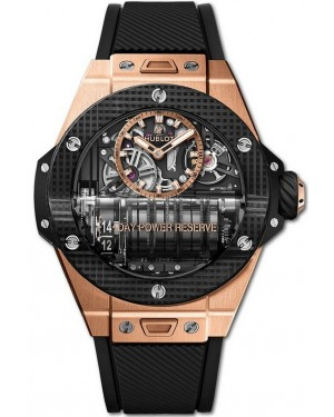 Hublot Big Bang MP-11 Power Reserve Montre 14 Days 3D Carbon Montre Homme 911.OQ.0118.RX