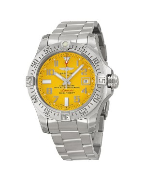 Breitling Avenger II Seawolf Cadran jaune Acier inoxydable Hommes A1733110-I519SS