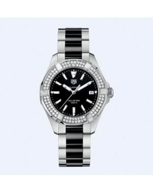 Tag Heuer Aquaracer 300M Noir Ceramique Diamants Dames WAY131E.BA0913