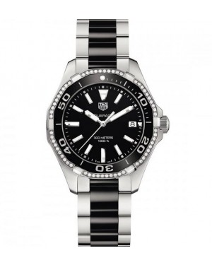 Tag Heuer Aquaracer Dames 300M 35MM Noir Ceramique Diamond Dames WAY131G.BA0913