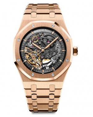 Audemars Piguet Royal Oak Double Balance Wheel Openworked Rose Or 15407OR.OO.1220OR.01
