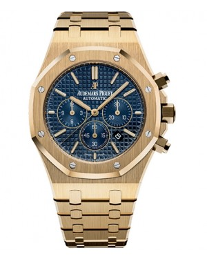 Audemars Piguet Royal Oak Chronographe 41mm Jaune Or Bleu Cadran 26320BA.OO.1220BA.02