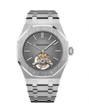 Audemars Piguet Royal Oak Tourbillon Extra-Thin Platine Smoked Gris Cadran 26510PT.OO.1220PT.01