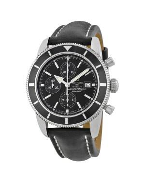 Breitling Superocean Heritage Chronographe Cadran Noir Cuir noir Hommes A1332024-B908BKLT