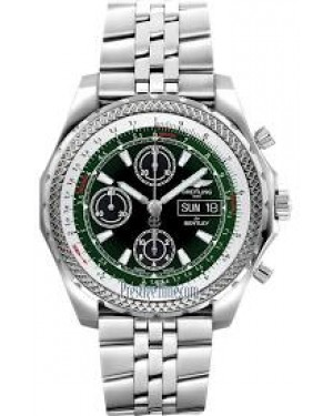 Breitling Bentley GT II Automatique Noir and Green Cadran Hommes A1336512/L520