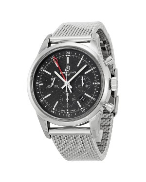 Breitling Transocean Cadran Noir Acier inoxydable Hommes AB045112-BC67SS
