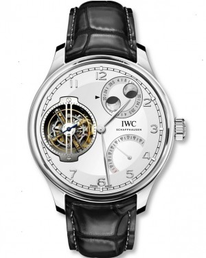 IWC Portugieser Constant-Force Tourbillon Double Moon Platinum Montre Homme IW590105